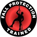 Fall Protection Trained Hard Hat Decal - Weatherproof